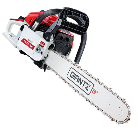 52CC Petrol Commercial Chainsaw Chain Saw Bar E-Start Pruning