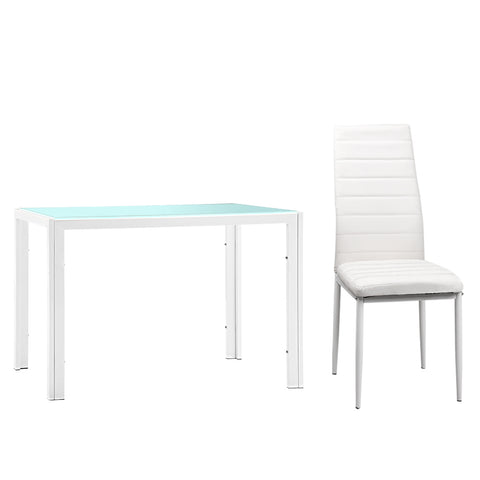 5 Piece Dining Table Set - White
