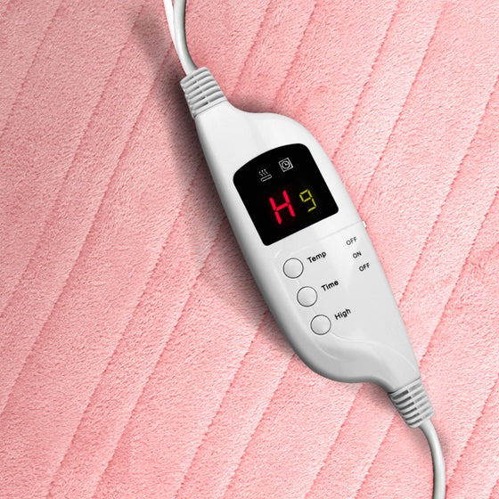 Heated Electric Throw Rug Fleece Sunggle Blanket Washable Pink