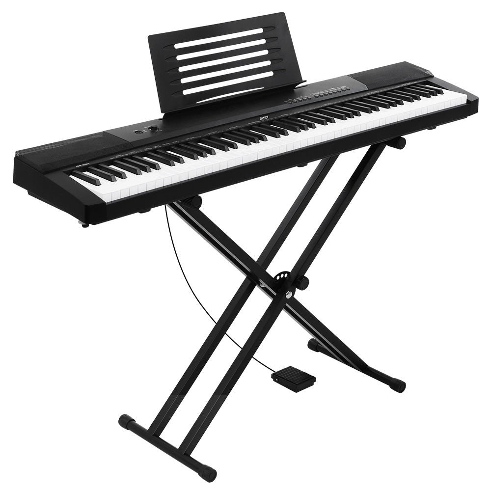 88 Keys Electronic Piano Keyboard Electric Holder Music Stand Touch Sensitive with Sustain pedal