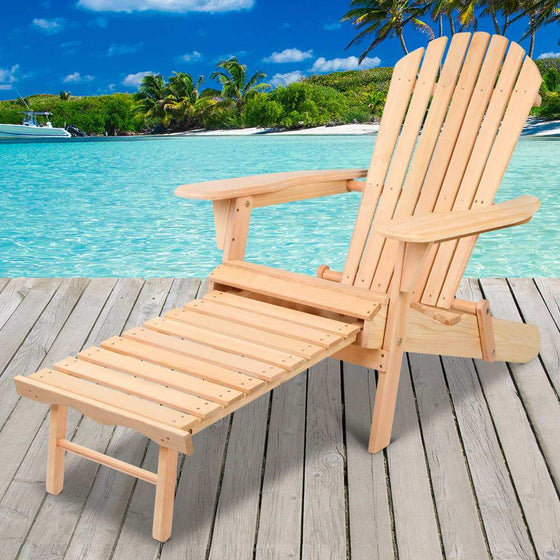 Outdoor Furniture Sun Lounge Chairs Beach Chair Recliner Adirondack Patio Garden