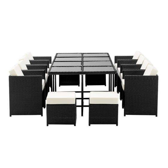 13 Piece Wicker Outdoor Dining Table Set