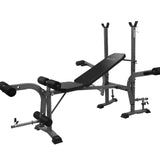Multi Station Weight Bench Press Fitness Weights Equipment Incline Black