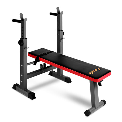 Multi-Station Weight Bench Press Weights Equipment Fitness Home Gym Red