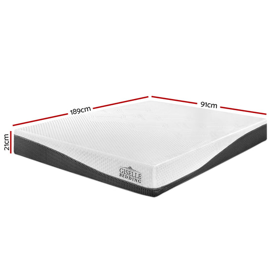 Single Size Memory Foam Mattress Cool Gel without Spring