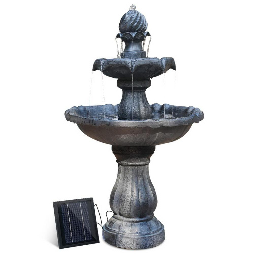 3-Tier Fountain with Solar Panel