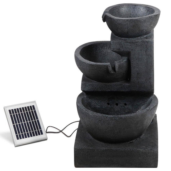 Solar Fountain with LED Lights