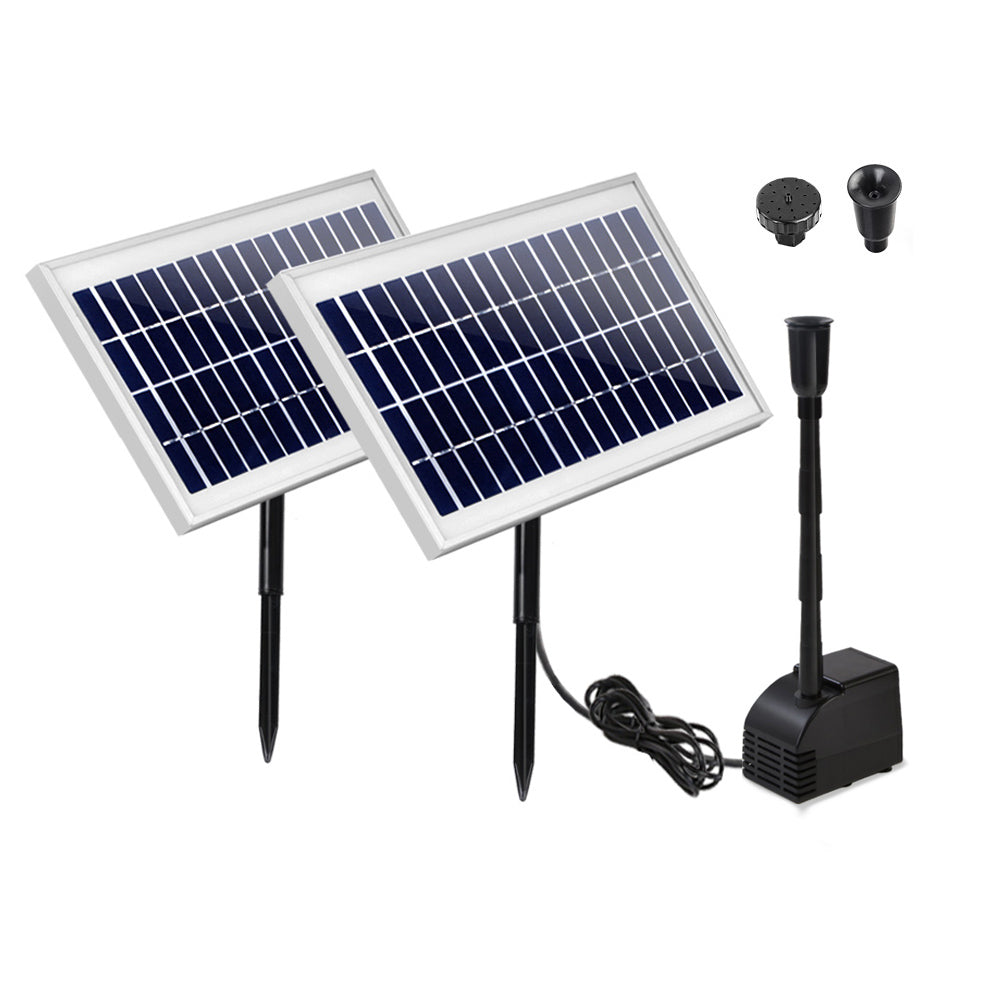 110W Solar Powered Water Pond Pump Outdoor Submersible Fountains