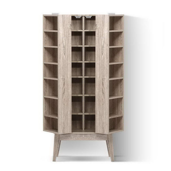 Media Storage Display Shelf Folding Cabinet Bookshelf Bluray Rack Oak
