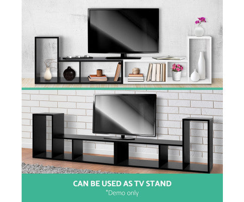 L Shaped Stackable Display Shelf - Black