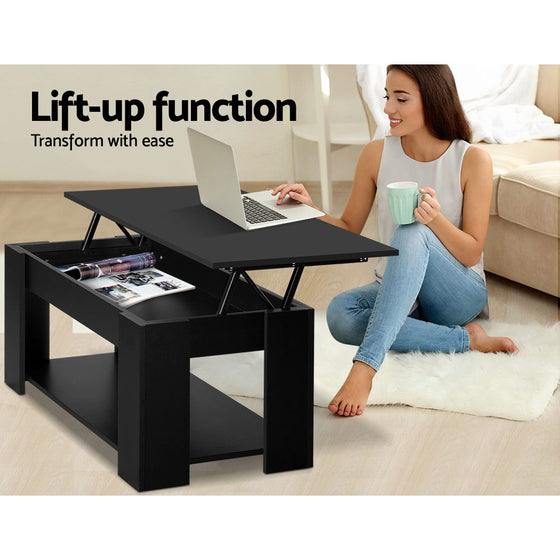 Where To Buy Lift Top Coffee Tables With Storage: Buy Lift Up Top Coffee Table Storage Shelf Black Online In