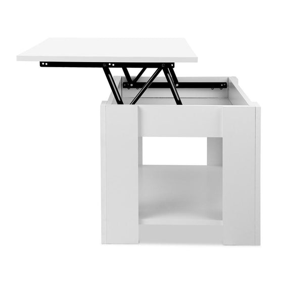 Lift Up Top Mechanical Coffee Table - White