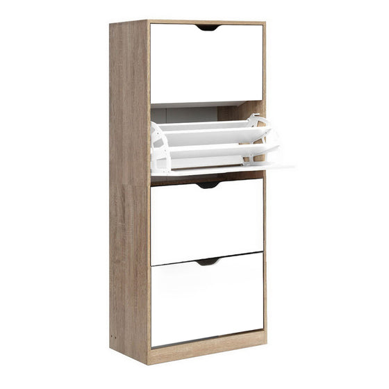 48 Pairs Shoe Cabinet Rack Organiser Storage Shelf Wooden