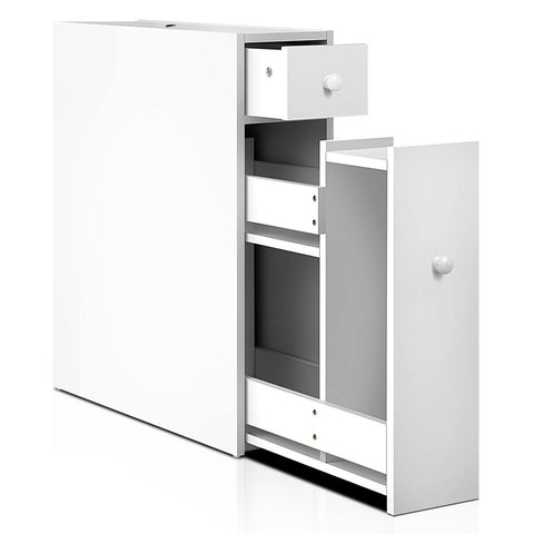 Bathroom Storage Cabinet White Slim