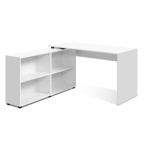 Office Computer Desk Corner Study Table Workstation Bookcase Storage