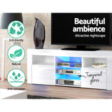 145cm RGB LED TV Stand Cabinet Entertainment Unit Gloss