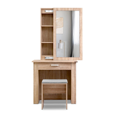 Dressing Table Mirror Stool Mirror Jewellery Cabinet Makeup Storage Wood