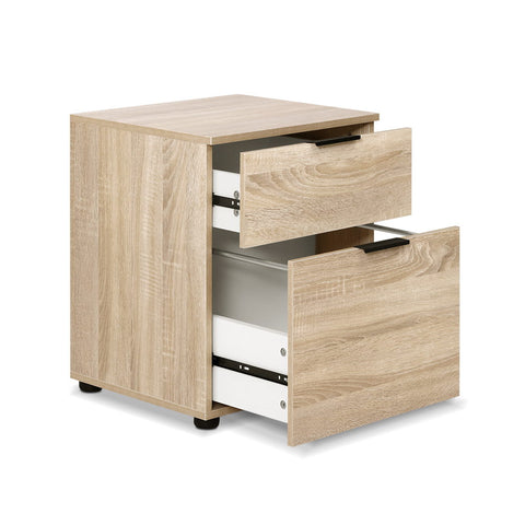 Filing Cabinet Office Shelves Storage Drawers Cupboard Wood