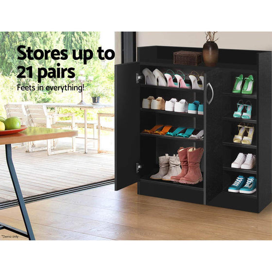 Shoe Storage Cupboard - Black