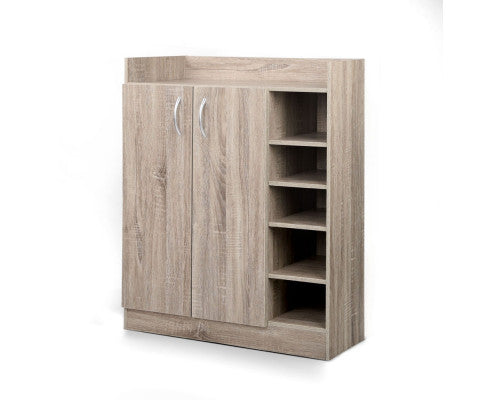 Buy 2 Doors Shoe Cabinet Storage Wood Online In Australia