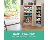 2 Doors Shoe Cabinet Storage -Wood
