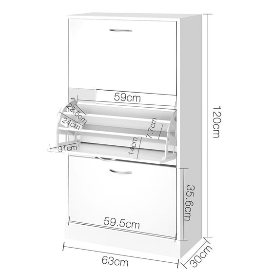 3 Tier Shoe Cabinet - 36 Pairs