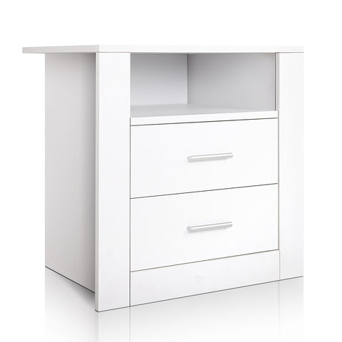 Bedside Tables Drawers Storage Cabinet Drawers Side Table White
