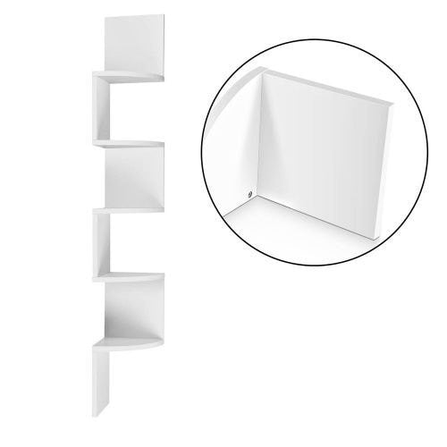 5-Tier Corner Wall Shelf