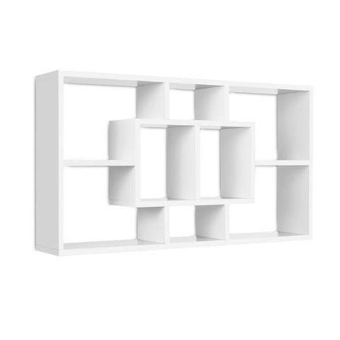 Floating Wall Shelf DIY Mount Storage Bookshelf Display Rack White