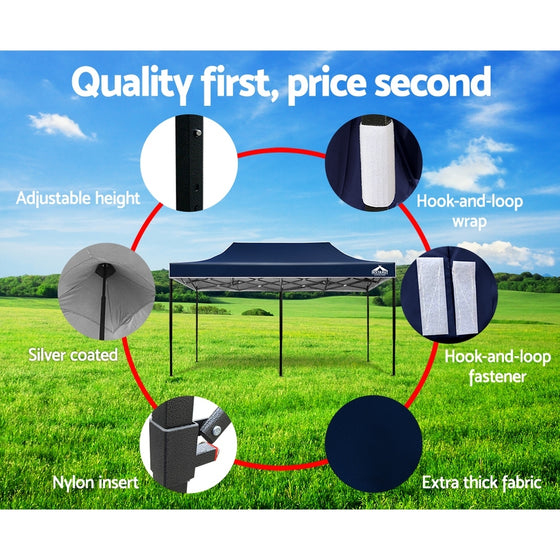 Instahut 3x6m Outdoor Gazebo - Navy