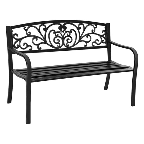 Cast Iron Garden Bench - Black