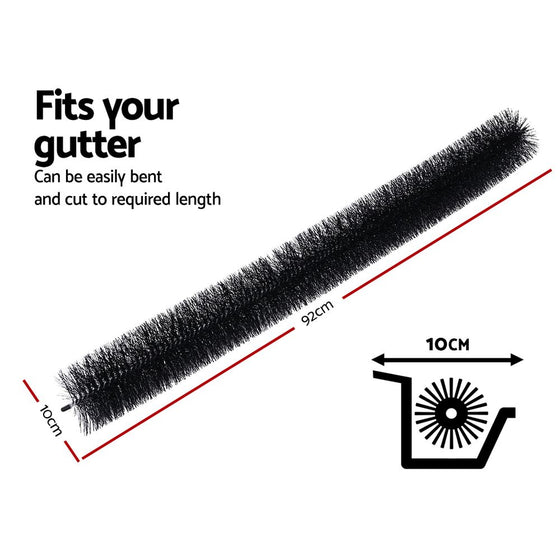 18 Pcs Gutter Brush Guard 100mm X 16.5m Length Leaf Twigs Filter