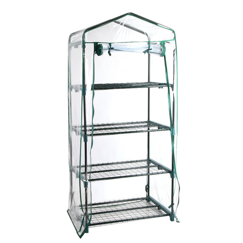 4 Shelf Greenhouse With Cover