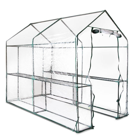 Greenhouse with Transparent PVC Cover - 1.9M x 1.2M
