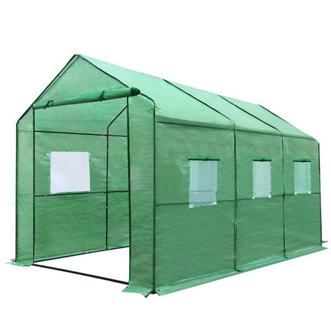 Greenhouse with Green Cover - 3.5M x 2M