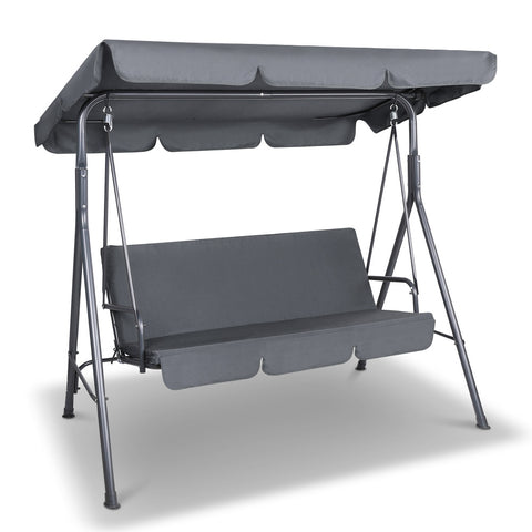 Swing Chair with Canopy - Grey