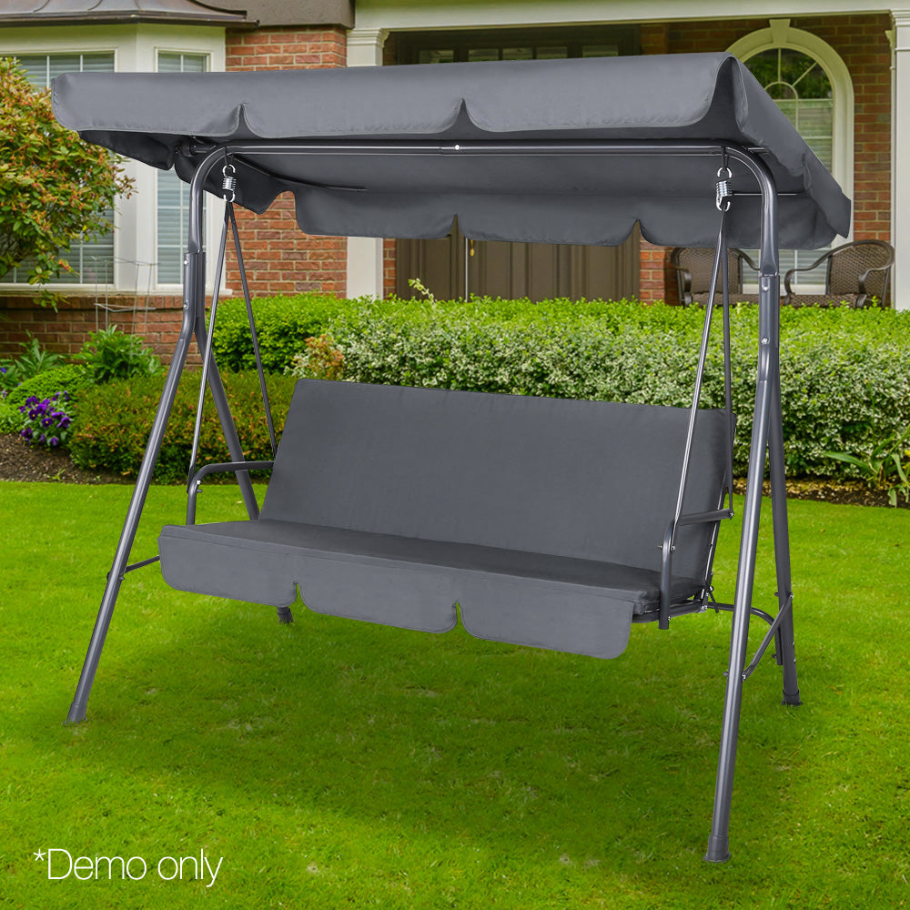 Buy Swing Chair With Canopy Grey Online In Australia