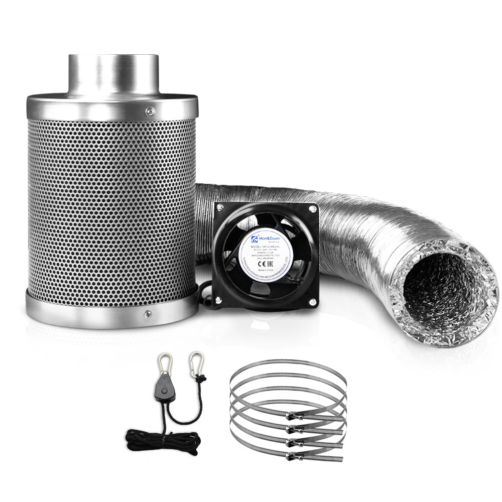 Ventilation Fan and Active Carbon Filter Ducting Kit