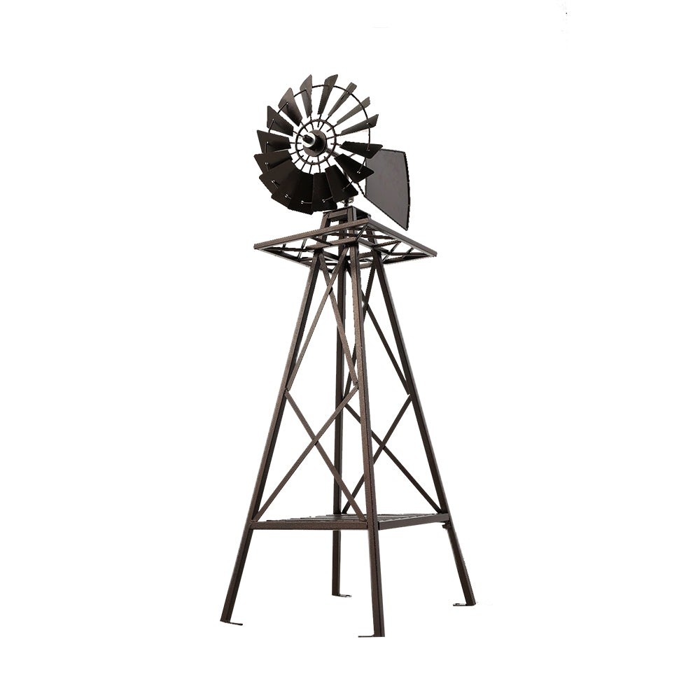 Windmill 160cm Metal Ornaments Outdoor Decor