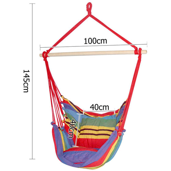 Hammock Swing Chair w/ Cushion Multi-colour