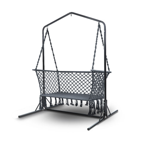 Outdoor Swing Hammock Chair with Stand Frame 2 Seater Bench Furniture