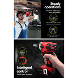 Cordless Impact Wrench 20V Lithium-Ion Battery Rattle Gun Sockets