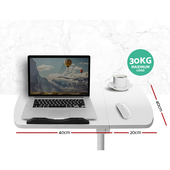 Computer Stand with Cooler Fan - White