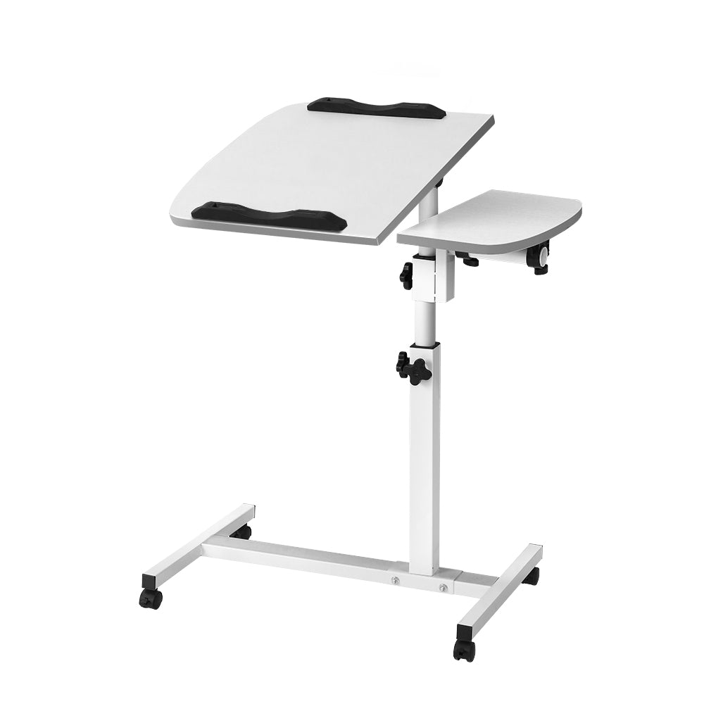Rotating Mobile Laptop Adjustable Desk White