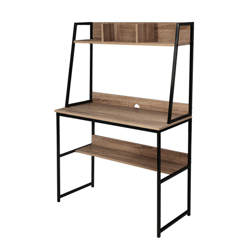 Artiss Office Computer Desk Study Table Workstation Bookshelf Storage Oak