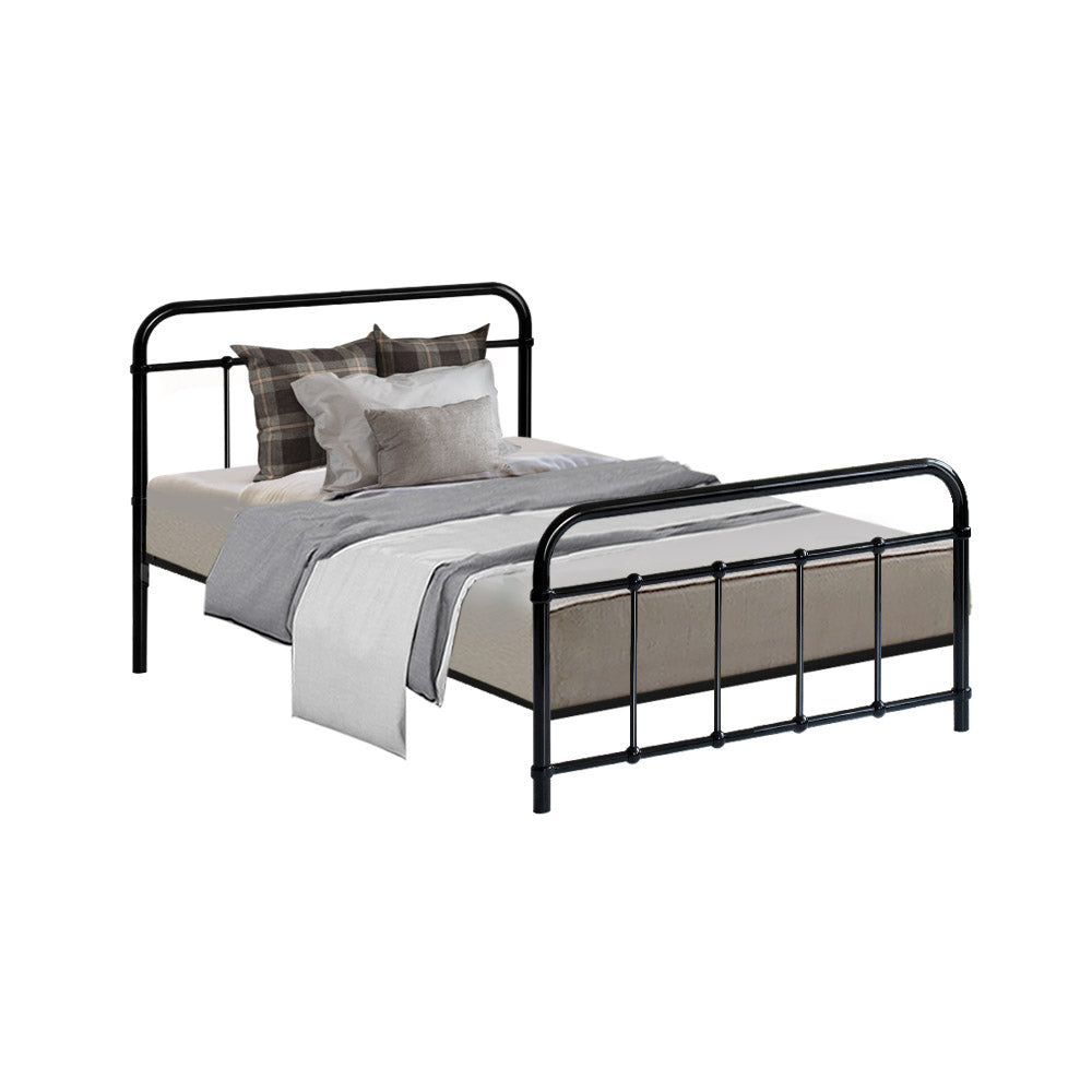 Metal Bed Frame Single Black