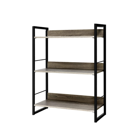 Bookshelf Display Shelves Metal Bookcase Wooden Book Shelf Wall Storage