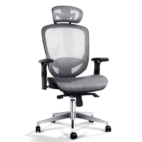 Office Chair Gaming Chair Computer Chairs Mesh Net Seating Grey