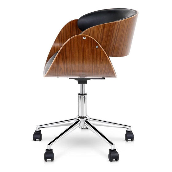 PU Leather Curved Office Chair