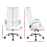 PU Leather Executive Office Chair - White